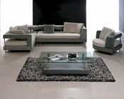 Contemporary Sectional Sofa Set in Two Tone Fabric 44LK133