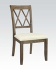 Contemporary Side Chair Claudia by Acme Furniture AC71717 (Set of 2)