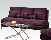 Contemporary Sofa Jolie Purple by Acme Furniture AC51750