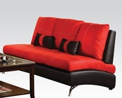 Contemporary Sofa Jolie Red by Acme Furniture AC51745
