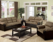 Contemporary Sofa Set Connell Saddle by Acme AC15140SET