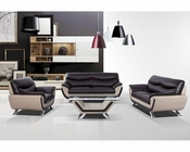 Contemporary Sofa Set in Leather 44L6046