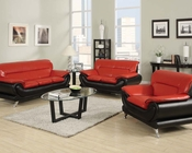 Contemporary Sofa Set Orel Red by Acme Furniture AC50710SET