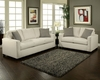 Contemporary Sofa Set Trivia in Ivory Finish BH-47SS241