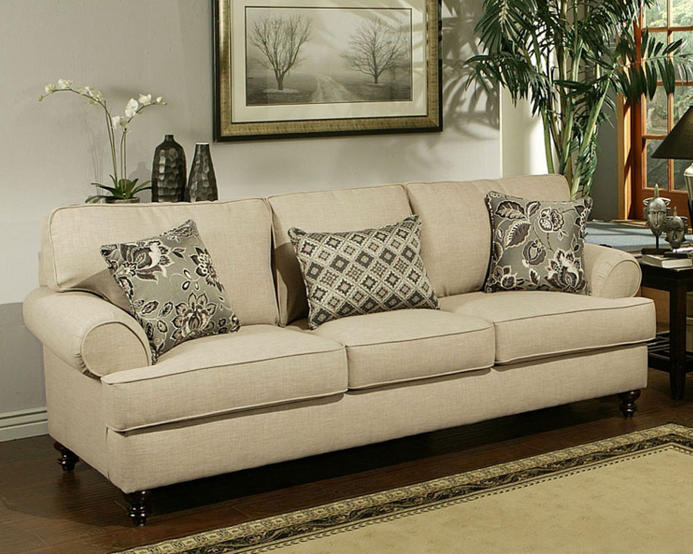 Contemporary Sofa Southerland In Toast Finish Bh 47ss232