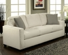 Contemporary Sofa Trivia in Ivory Finish BH-47SS242