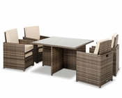 Contemporary Square Compact Patio Set 44P223-SET