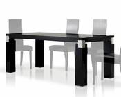 Contemporary Style Black Oak Dining Table 44D616-2