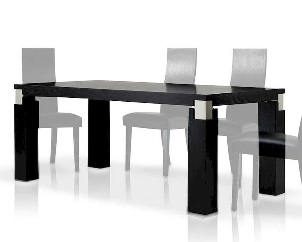 Contemporary style black oak dining table 44d616 2 for Modern black dining table