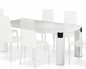 Contemporary Style Dining White Table 44D616-1