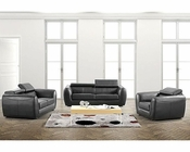 Contemporary Style Leather Sofa Set 44L6087