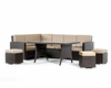 Contemporary Style Outdoor Dining Set 44P209-SET