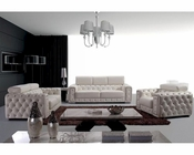 Contemporary Style Tufted Leather Sofa Set 44L3025
