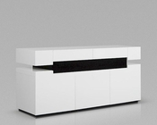 Contemporary Style White Buffet 44D616BUF-W