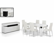 Contemporary Style White Dining Set 44D616-1SET