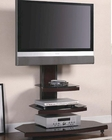 Contemporary Tiered Media Console with Bracket CO700668