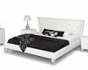Contemporary Transitional White Leatherette Bed 44B141BD