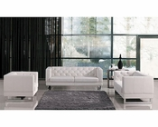 Contemporary Tufted Eco-Leather Sofa Set 44L6108