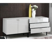 Contemporary Two-Piece Lacquer Buffet 44D967BU