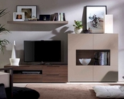 Contemporary Wall Center in Wenge/ Beige 33E81