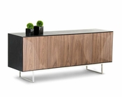 Contemporary Wenge Buffet w/ Walnut Doors 44D1108-WNG