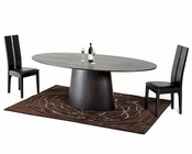 Contemporary Wenge Dining Set w/ Oval Dining Table 44D510-SET