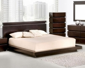 Contemporary Wenge Finish Bed 44B187BD