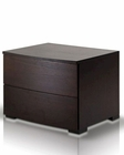 Contemporary Wenge Nightstand 44B209NS