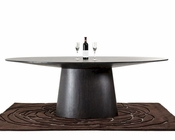 Contemporary Wenge Oval Dining Table 44D510-WNG