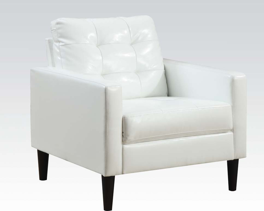 Peachy Contemporary White Accent Chair By Acme Furniture Ac59048 Caraccident5 Cool Chair Designs And Ideas Caraccident5Info