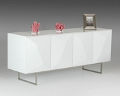 Contemporary White Buffet 44D1108-WHT