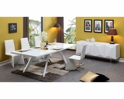 Contemporary White Dining Set 44D1108-SET
