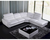 Contemporary White Eco-Leather Sectional Sofa 44L6050