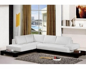 Contemporary White Leather Sectional Sofa Set 44L2226B