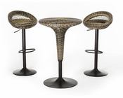 Contemporary Woven Bar Table Set 44BR7701-SET
