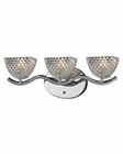 ELK Contour Collection 3 light bath in Polished Chrome EK-46158-3