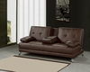 Convertible Sofa in Espresso Finish MF-F2033