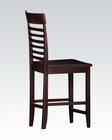 Counter Height Chair Ebony by Acme Furniture AC70036 (Set of 2)