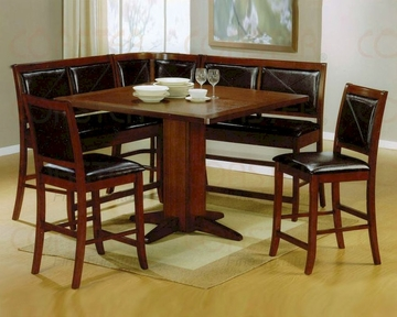 Counter Height Corner Dining Set In Dark Brown Co 101791s