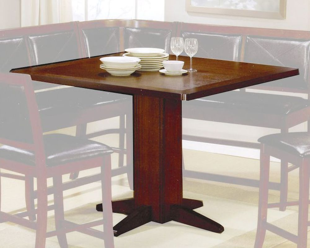 Contemporary Counter Height Dining Table In Dark Brown Coaster