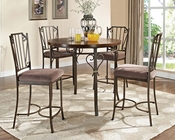 Counter Height Set Barry in Walnut by Acme Furniture AC70690SET