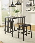 Counter Height Set Edgar by Homelegance EL-5106BK-SET