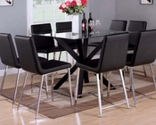 Counter Height Set w/ Glass Table Lenia by Acme Furniture AC71000SET