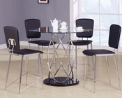 Counter Height Set w/ Tempered Glass Table Deron by Acme AC70935SET