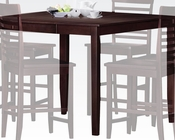 Counter Height Table Ebony by Acme Furniture AC70034