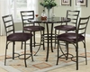 Counter Height Table Set Daisy by Acme Furniture AC70090BK-SET