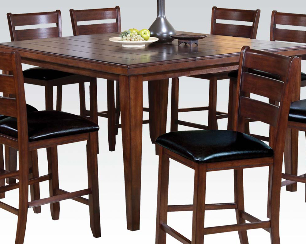 Counter Height Table Set Urbana Cherry By Acme Ac00680set