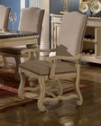 Cream Finish Arm Chair by MCF Furnishings MCFD9801-CA (Set of 2)