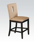 Cream Finish Counter Height Chair Baldwin by Acme AC16777 (Set of 2)