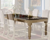 Cream Finish Dining Table by MCF Furnishings MCFD9801-T